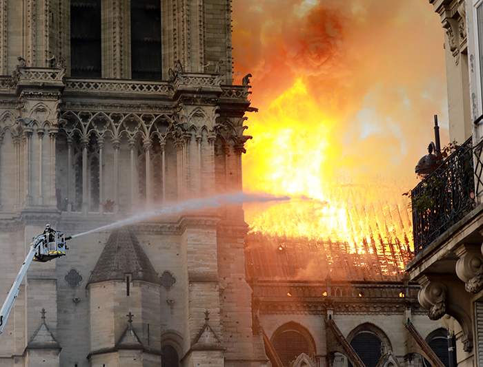 Fire Breaks Out At Iconic Notre-Dame Cathedral
